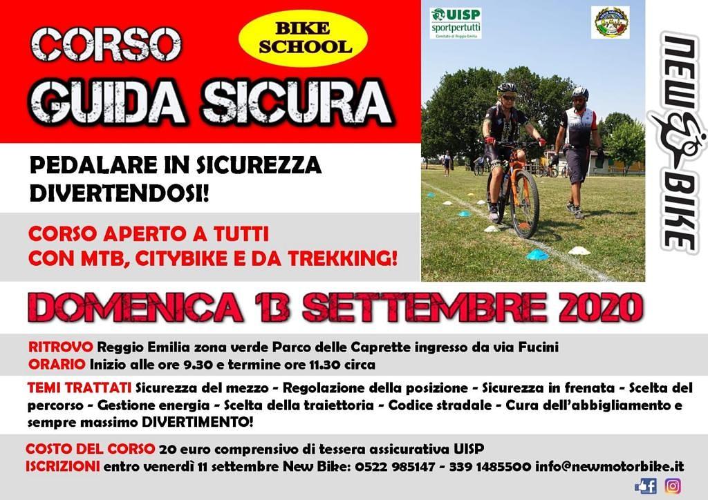 Corso guida sicura domenica 13 settembre 2020 organizzato da New Bike