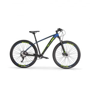 MBM bici 659-SNAKE-MATTBLACKNEONBLUE